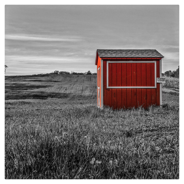 """""""Little red shed"""" stock image"""