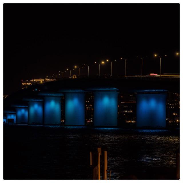 """The bridge on lights"" stock image"