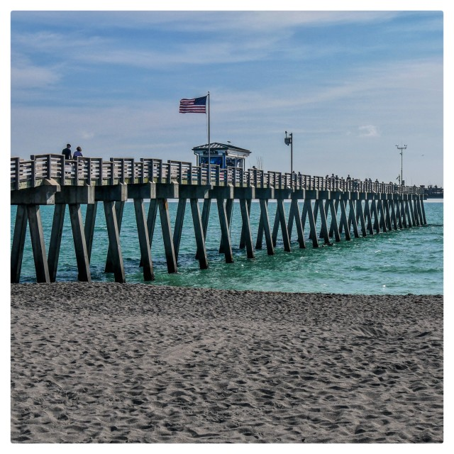 """""""The Fishing Pier"""" stock image"""