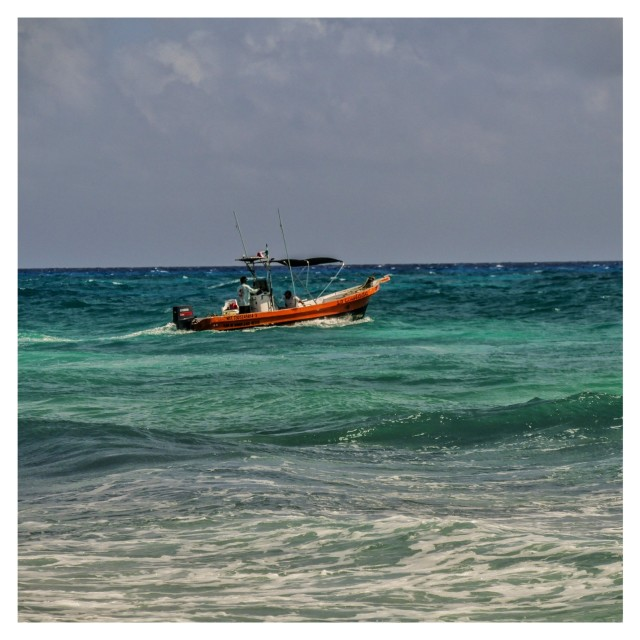 """""""The fishing boat"""" stock image"""