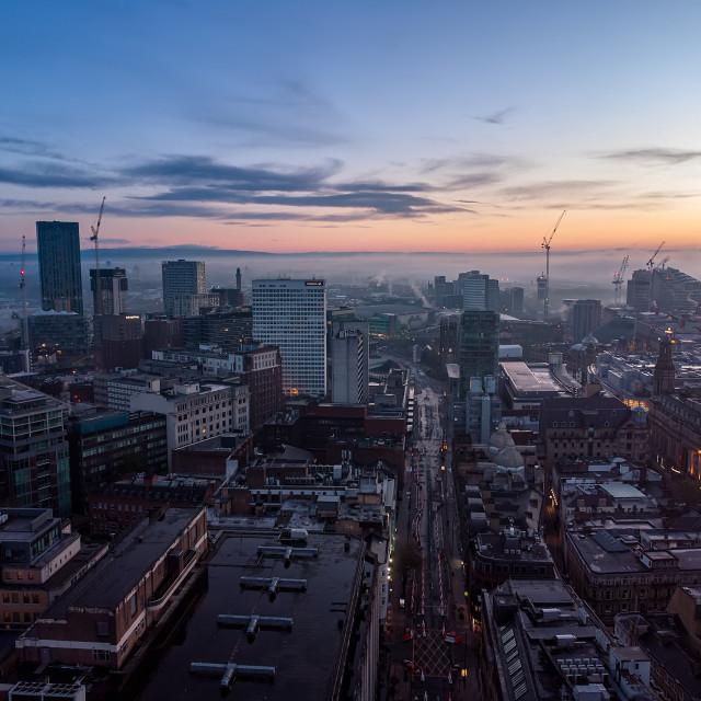"""Manchester before sunrise"" stock image"