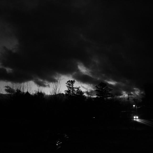 """Night Road"" stock image"