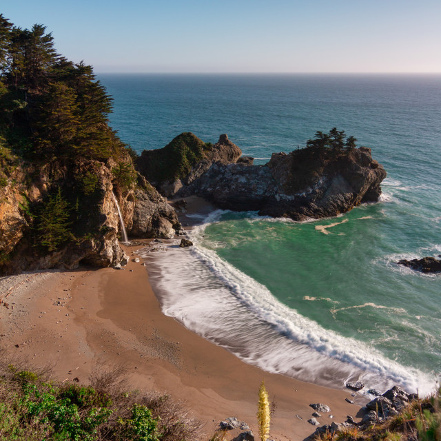 """""""McWay falls at golden hour"""" stock image"""
