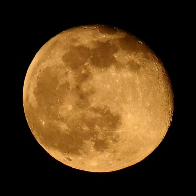 """Orange Moon"" stock image"