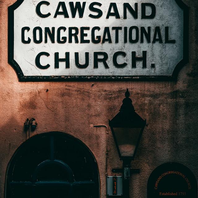 """Cawsand Congregational Church, Cawsand, Cornwall UK."" stock image"