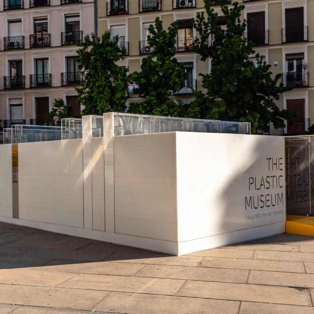 """""""The Plastic Museum in Reina Sofia Museum, Madrid"""" stock image"""