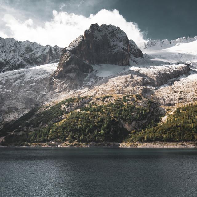 """Lago Di Fedaia"" stock image"