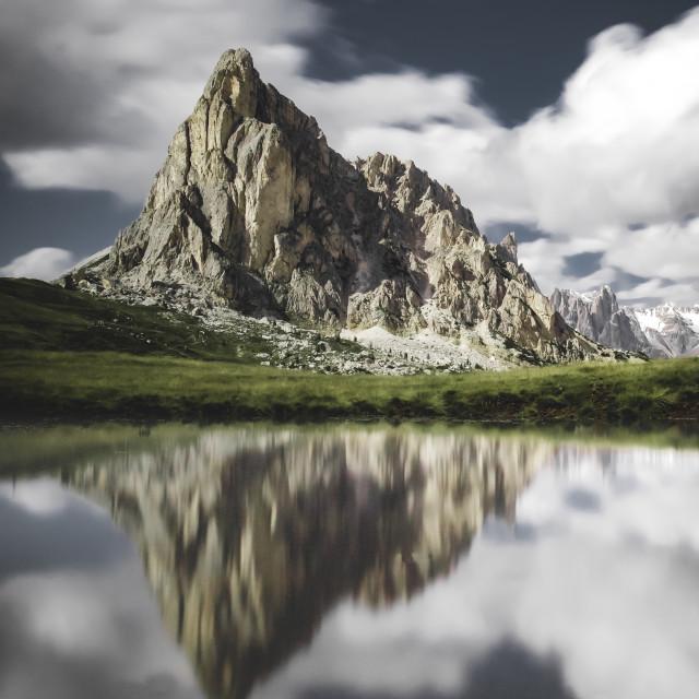 """Passo Giau Reflections"" stock image"