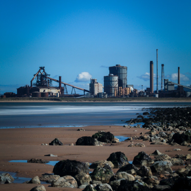 """""""Redcar steelworkers"""" stock image"""