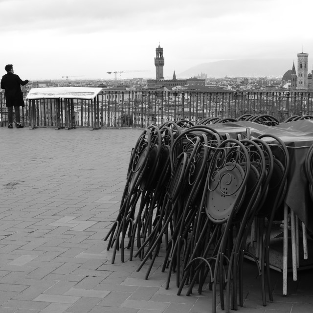 """Piazzale Michelangelo."" stock image"