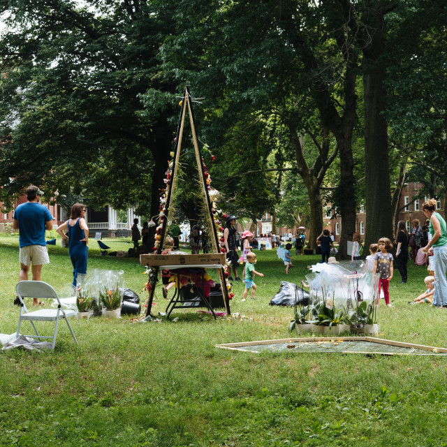 """""""People enjoying in Festival on Governors Island"""" stock image"""
