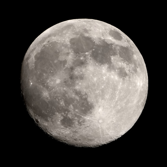 """""""Almost Full Moon"""" stock image"""