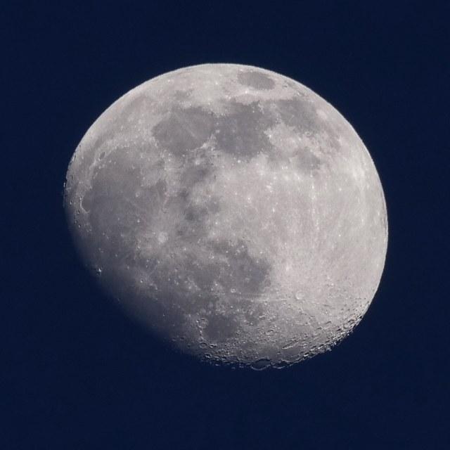 """""""Waxing Twilight Moon"""" stock image"""