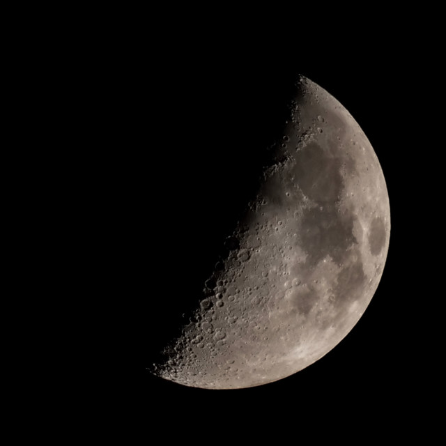 """""""First Quarter Moon"""" stock image"""