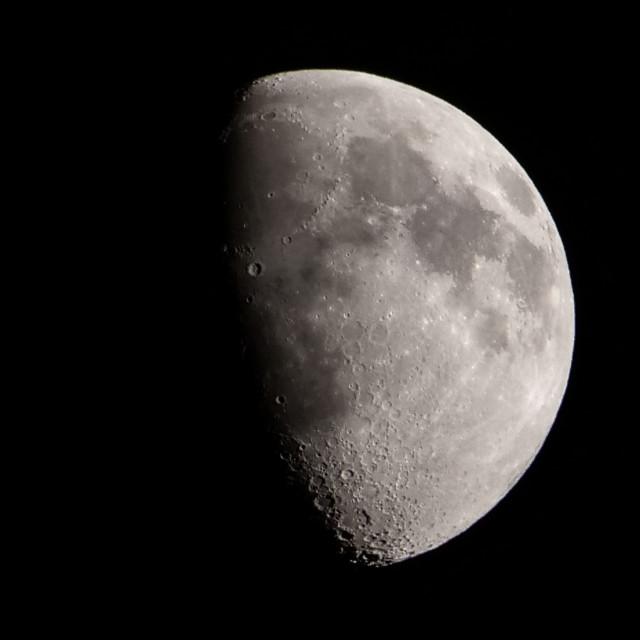 """Waxing Gibbous Moon 21 April 2021"" stock image"