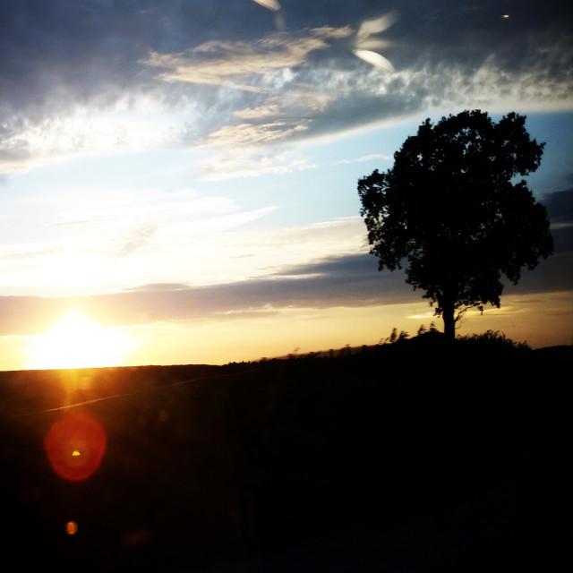 """""""English Sunset"""" stock image"""