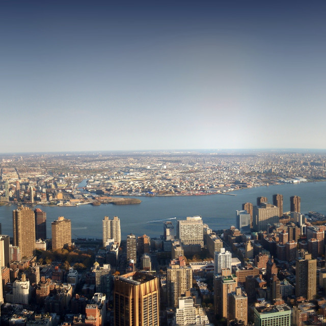 """""""New York from the Empire State Building"""" stock image"""