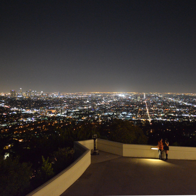 """""""Los Angeles In Lights"""" stock image"""