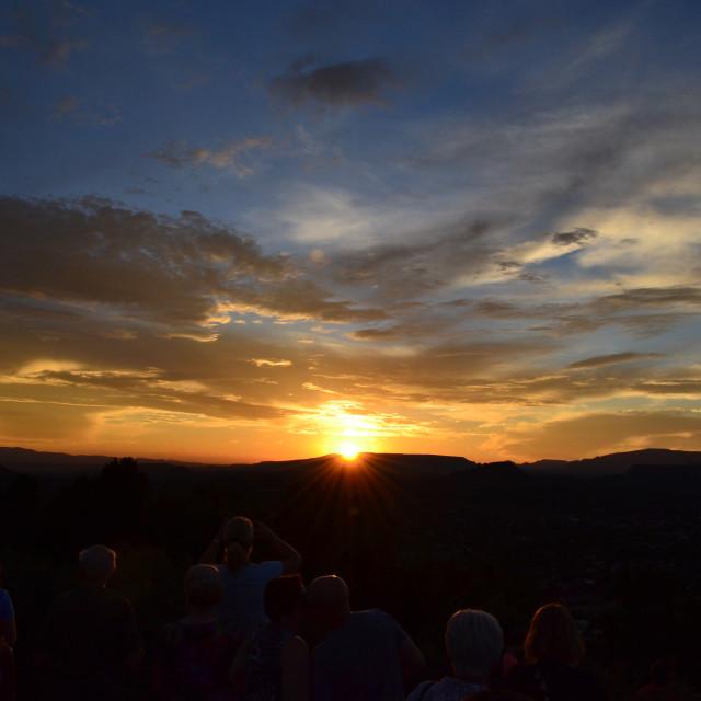 """Sedona Sunset"" stock image"