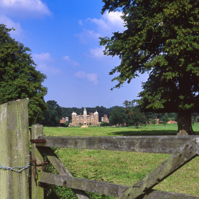 """""""View of Blickling Hall"""" stock image"""