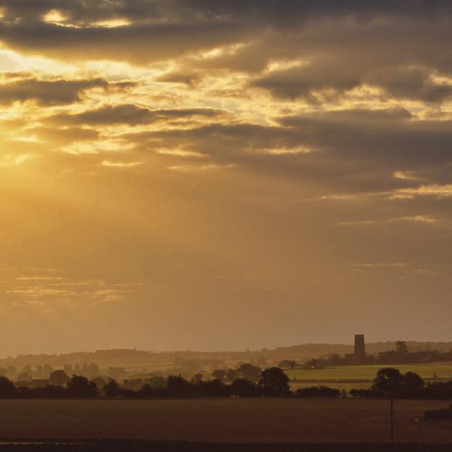 """Sunset over Norfolk"" stock image"
