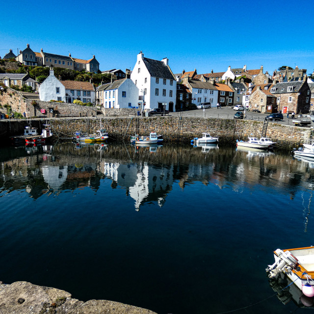 """Crail Harbour, Fife, Scotland"" stock image"