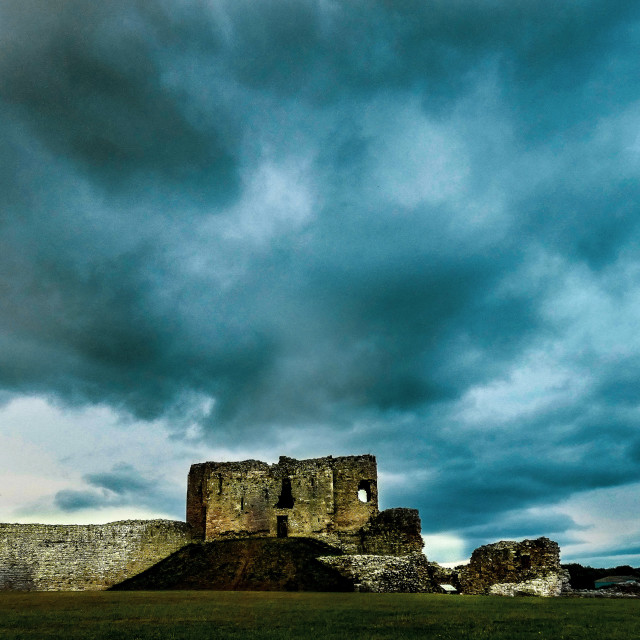 """""""Storm over the castle"""" stock image"""