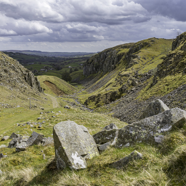 """""""Holwick Scars near Middleton in Teesdale"""" stock image"""