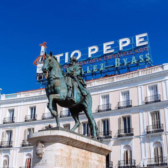 """Puerta del Sol in central Madrid, Spain"" stock image"