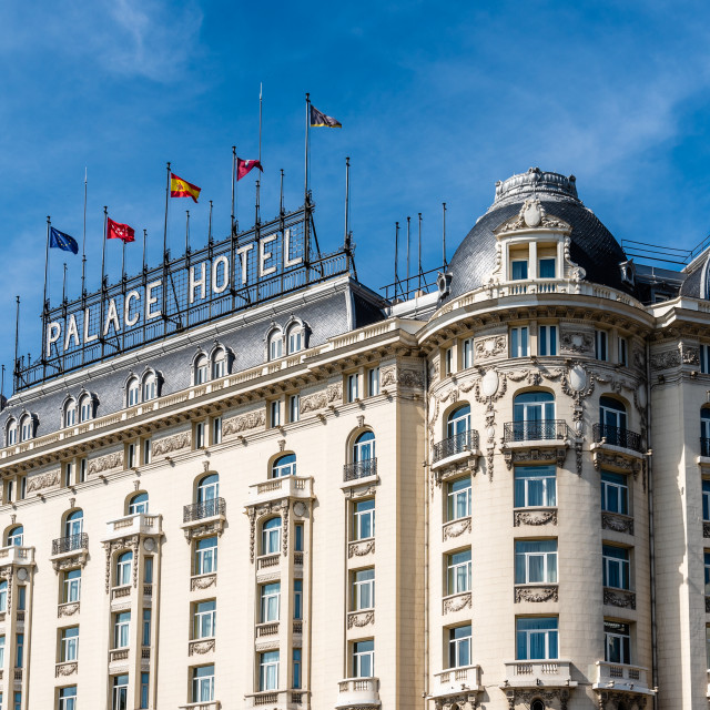 """""""The Palace Hotel in Paseo of Prado in Madrid"""" stock image"""