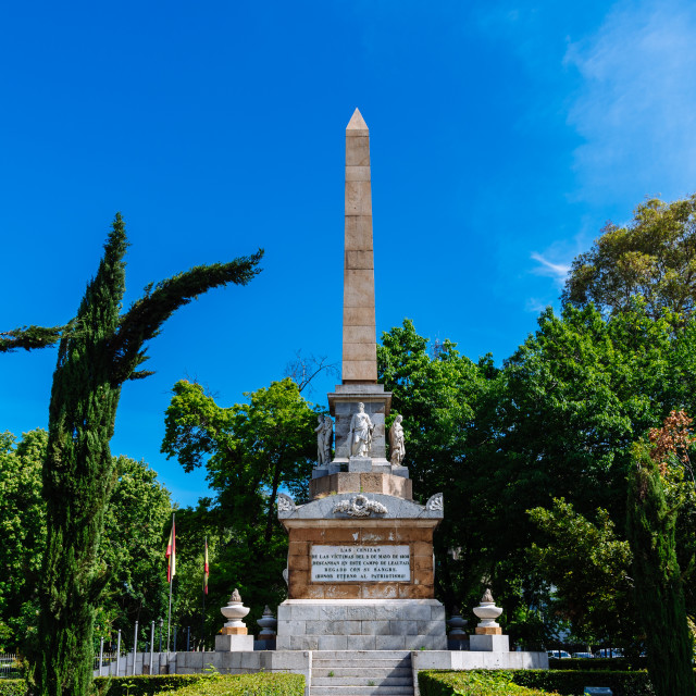 """""""The Monument to the Fallen for Spain in Madrid"""" stock image"""