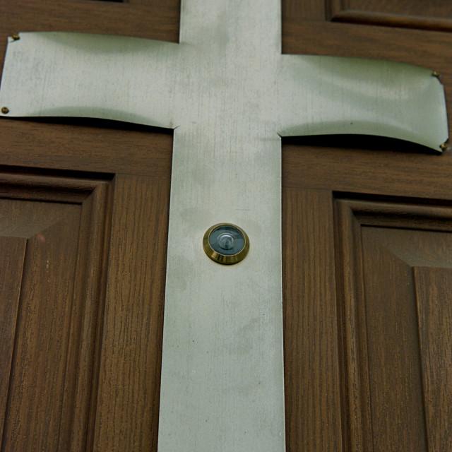 """""""Church Peephole 2"""" stock image"""