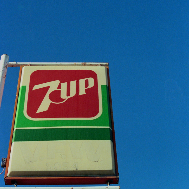 """""""7 Up VFW"""" stock image"""