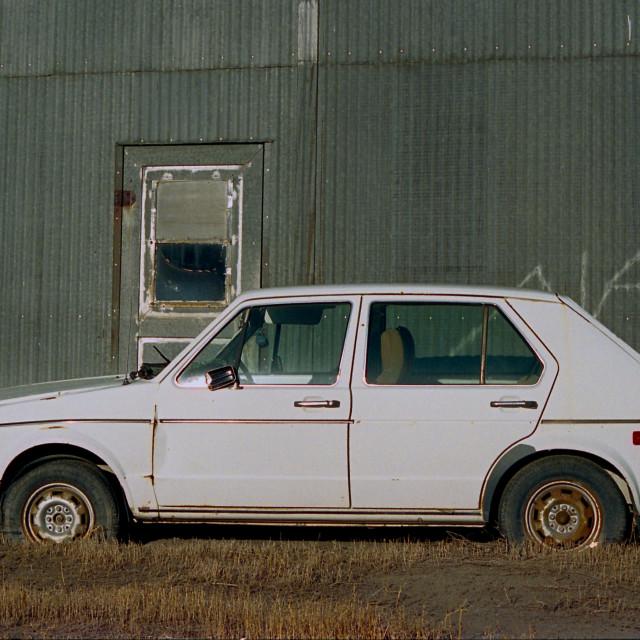 """Alan's Abandoned VW Rabbit"" stock image"