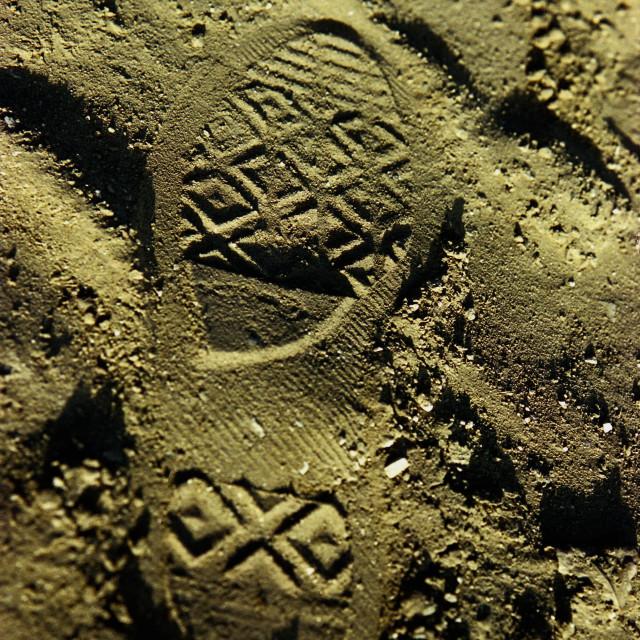 """Chuck Shoeprint"" stock image"