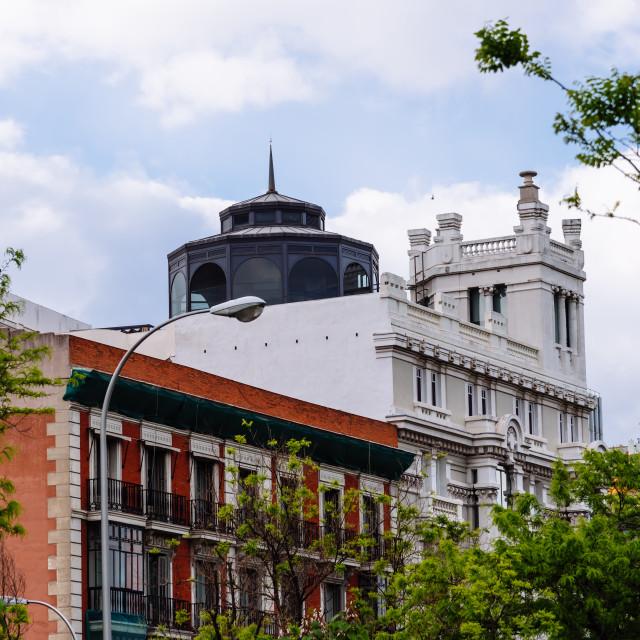 """Luxury residential buildings in Avenue in Salamanca District in Madrid"" stock image"