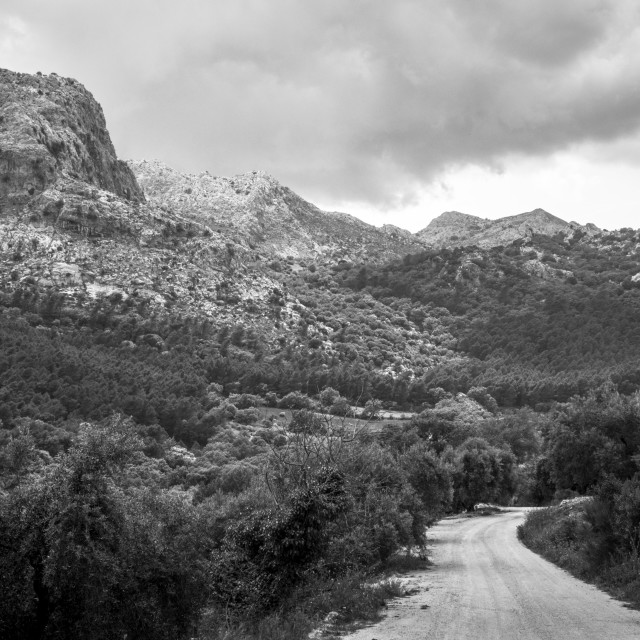 """Scenic landscape of limestone formations"" stock image"