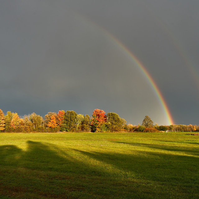 """Fall and Rainbows"" stock image"