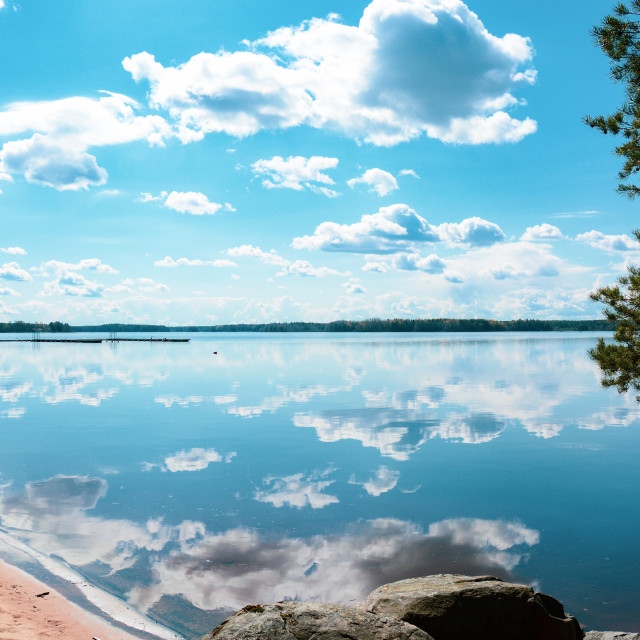 """""""Reflection of clouds"""" stock image"""