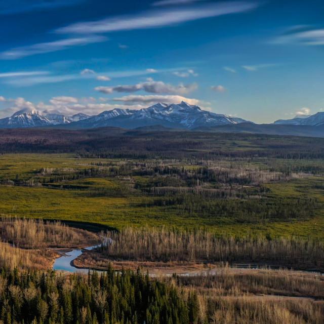 """Glacier Panoramic"" stock image"