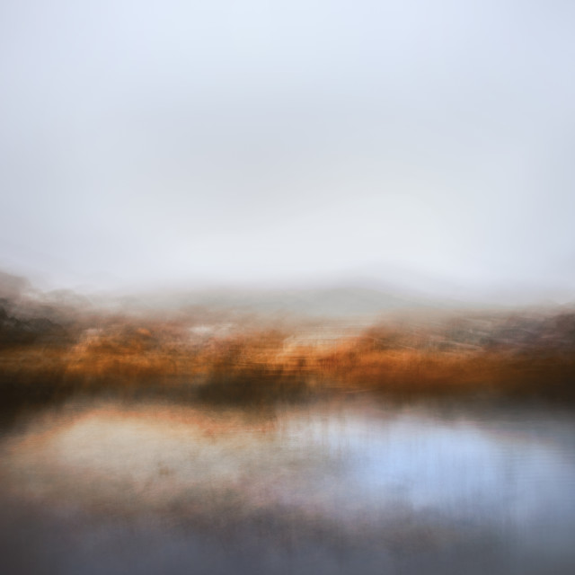 """Autumn afternoon - Lake Crackenback 2"" stock image"
