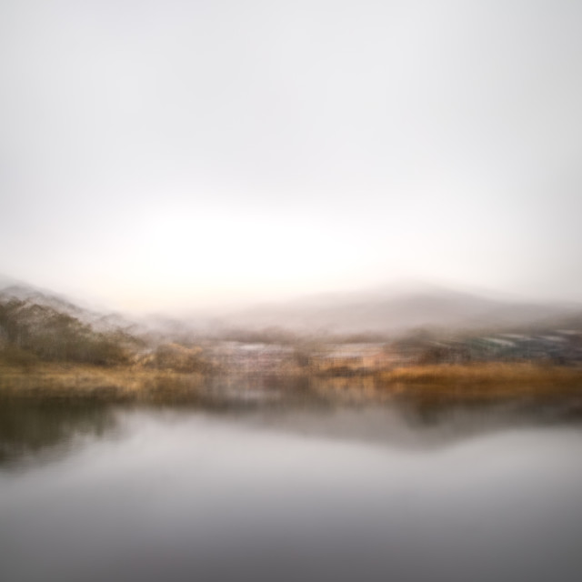 """Autumn afternoon - Lake Crackenback 4"" stock image"