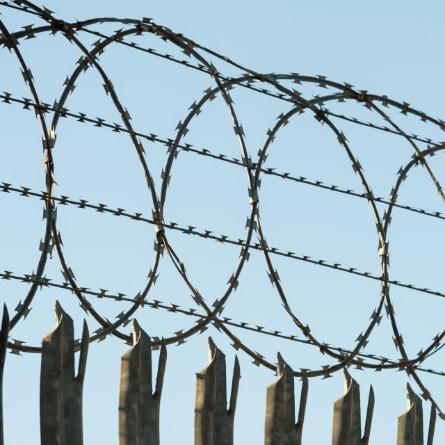 """razorwire security fencing"" stock image"