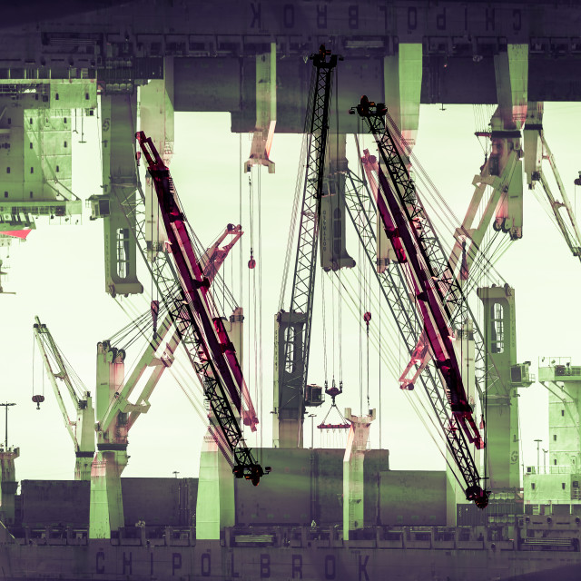 """""""""""Constructivist City"""" - Artistic architectural/industrial abstract"""" stock image"""