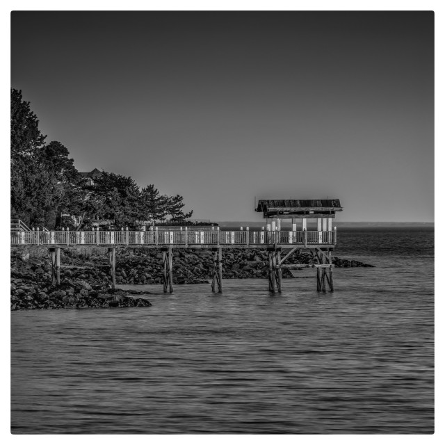 """""""Pier - Milford CT"""" stock image"""