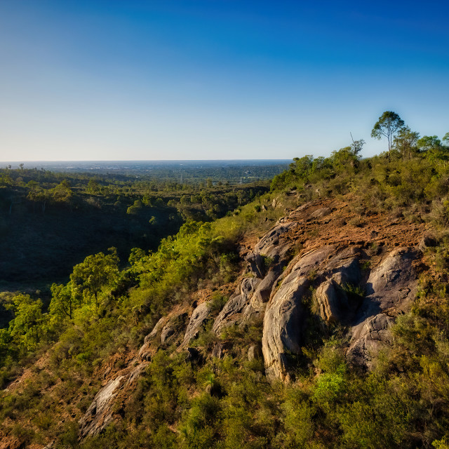"""Rocky Hillside, Perth Hills"" stock image"