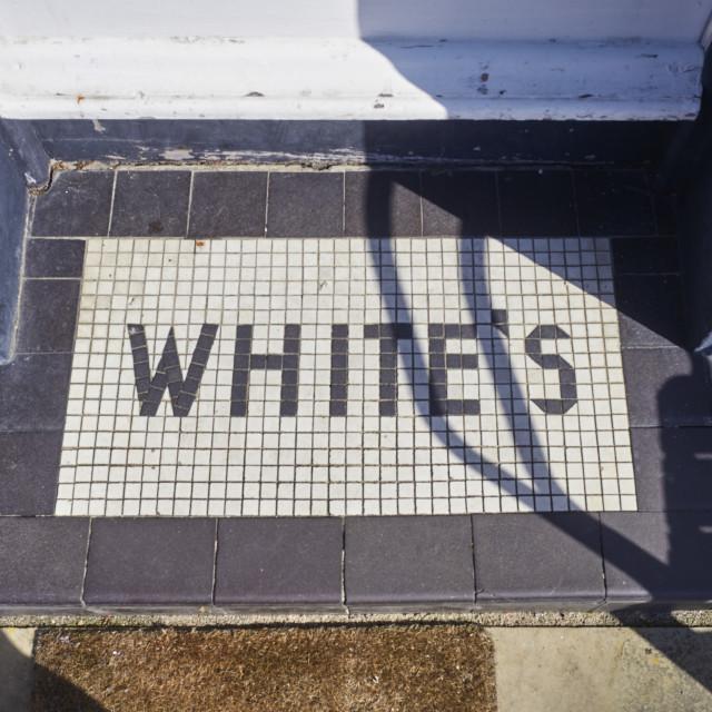 """White's written into the mosaic"" stock image"