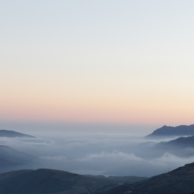 """""""Sunset, Clouds and the Alpujarras"""" stock image"""