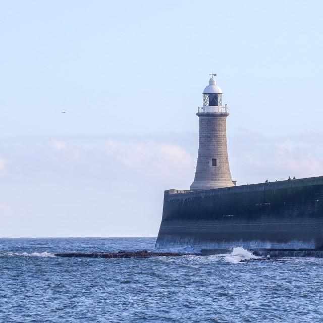 """Tynemouth Lighthouse"" stock image"