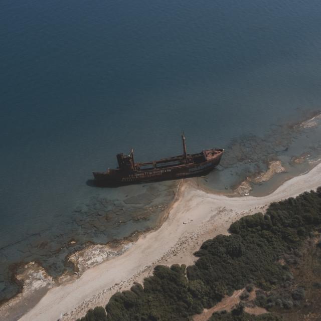 """""""Dimitrios Shipwreck Gytheion"""" stock image"""